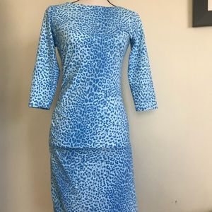 J.McLaughlin BlueCheetah Print Dress, size XS